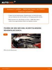 Wie der Wechsel durchführt wird: Luftfilter 330Ci 3.0 BMW e46 Cabrio tauschen