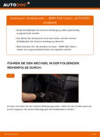 Wie der Wechsel durchführt wird: Stoßdämpfer 330Ci 3.0 BMW e46 Cabrio tauschen