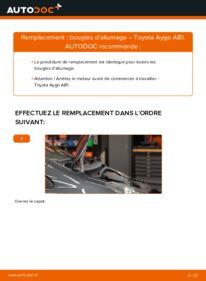 Comment effectuer un remplacement de Bougies d'Allumage sur 1 Toyota Aygo ab1