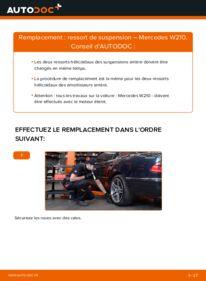Comment effectuer un remplacement de Ressort d'Amortisseur sur E 300 3.0 Turbo Diesel (210.025) Mercedes W210