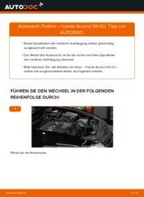 Wie der Wechsel durchführt wird: Federn 2.0 i (CU1) Honda Accord VIII CU tauschen