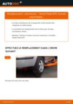 PDF manuel de remplacement: Amortisseur SKODA Fabia I Combi (6Y5) arrière + avant