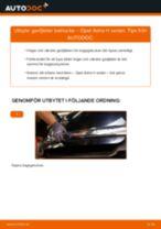 Byta gasfjäder baklucka på Opel Astra H sedan – utbytesguide