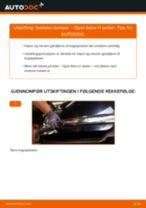 Slik bytter du bakluke demper på en Opel Astra H sedan – veiledning