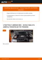 Skifte Støtdemper SKODA FABIA: verkstedhåndbok