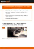 Slik bytter du kupefilter på en Skoda Fabia 6Y5 – veiledning