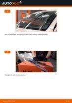Slik bytter du vindusviskere fremme på en Skoda Fabia 6Y5 – veiledning