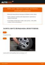 Kuinka vaihtaa jousi taakse Opel Astra H sedan-autoon – vaihto-ohje