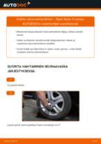 Kuinka vaihtaa iskunvaimentimet taakse Opel Astra H sedan-autoon – vaihto-ohje