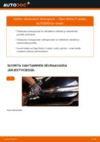 Kuinka vaihtaa takaluukun kaasujousi Opel Astra H sedan-autoon – vaihto-ohje