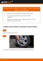 Ako vymeniť zadné tlmiče pruženia na Opel Astra H sedan – návod na výmenu