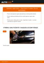 Ako vymeniť vzpěry kufru na Opel Astra H sedan – návod na výmenu