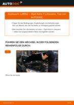 Luftfilter auswechseln OPEL ASTRA: Werkstatthandbuch