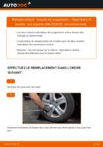 Comment changer : ressort de suspension arrière sur Opel Astra H berline - Guide de remplacement