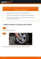 Jak vyměnit zadní tlumiče pérování na Opel Astra H sedan – návod k výměně