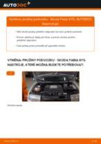 Jak vyměnit přední pružiny podvozku na Skoda Fabia 6Y5 – návod k výměně