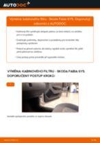 Jak vyměnit kabinovy filtr na Skoda Fabia 6Y5 – návod k výměně
