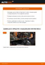 Kako zamenjati avtodel zavorni diski zadaj na avtu Opel Astra H sedan – vodnik menjave