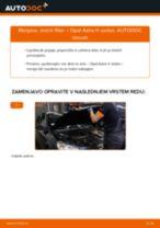 PDF priročnik za zamenjavo: Zracni filter OPEL Astra H Sedan (A04)