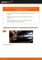 Kako zamenjati avtodel amortizer prtljažnih vrat na avtu Opel Astra H sedan – vodnik menjave