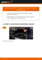 Autószerelői ajánlások - Opel Astra g f48 1.6 (F08, F48) Levegőszűrő cseréje