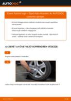 Hátsó futómű rugó-csere Opel Astra H sedan gépkocsin – Útmutató