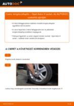 Hátsó lengéscsillapító-csere Opel Astra H sedan gépkocsin – Útmutató