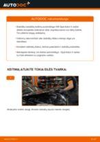 Kaip pakeisti Opel Astra H sedan stabdžių diskų: galas - keitimo instrukcija