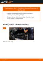 Kaip pakeisti Opel Astra H sedan oro filtro - keitimo instrukcija