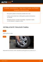 OPEL gale ir priekyje Amortizatorius keitimas pasidaryk pats - internetinės instrukcijos pdf