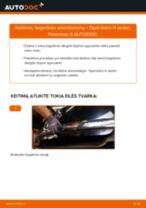 Kaip pakeisti ir sureguliuoti Rankinio Stabdžio Trosas OPEL ASTRA: pdf pamokomis