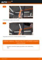Kaip pakeisti Skoda Fabia 6Y5 valytuvų: galas - keitimo instrukcija