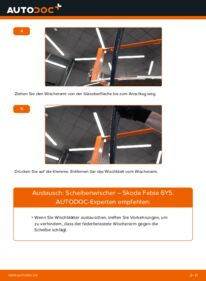 Wie der Wechsel durchführt wird: Scheibenwischer 1.4 16V Skoda Fabia 6Y5 tauschen