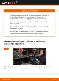 Wie der Wechsel durchführt wird: Bremsscheiben 1.6 (L69) Opel Astra H Limousine tauschen