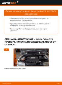 Как се извършва смяна на: Амортисьор на 1.4 16V Skoda Fabia 6y5