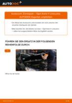 Zündspule auswechseln OPEL ASTRA: Werkstatthandbuch