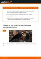 Brauchbare Handbuch zum Austausch von Bremsbeläge beim OPEL ZAFIRA