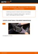 Udskift sidespejl glas - Opel Astra H sedan | Brugeranvisning