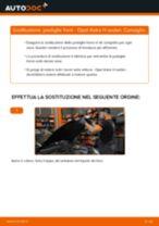 Come cambiare pastiglie freno della parte anteriore su Opel Astra H sedan - Guida alla sostituzione