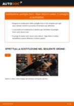 Come cambiare pastiglie freno della parte posteriore su Opel Astra H sedan - Guida alla sostituzione