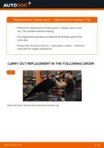 DIY manual on replacing OPEL ZAFIRA Brake Pads