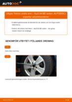Byta främre undre arm på Audi A4 B5 sedan – utbytesguide