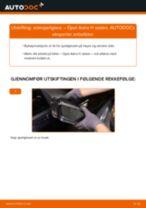 Slik bytter du sidespeilglass på en Opel Astra H sedan – veiledning