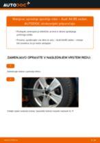 Kako zamenjati avtodel sprednja spodnja roka na avtu Audi A4 B5 sedan – vodnik menjave