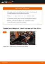 Kako zamenjati avtodel zavorni diski spredaj na avtu Opel Astra H sedan – vodnik menjave