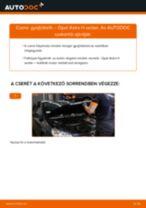 Hogyan cseréje és állítsuk be Fékdob OPEL ASTRA: pdf útmutató
