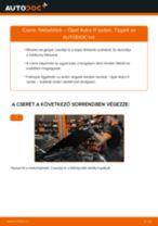 Hátsó fékbetétek-csere Opel Astra H sedan gépkocsin – Útmutató
