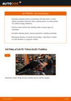 Kaip pakeisti Opel Astra H sedan stabdžių diskų: priekis - keitimo instrukcija