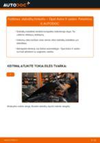 Kaip pakeisti Opel Astra H sedan stabdžių trinkeliu: galas - keitimo instrukcija