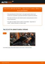 Cum să schimbați: plăcuțe de frână din spate la Opel Astra H sedan   Ghid de înlocuire